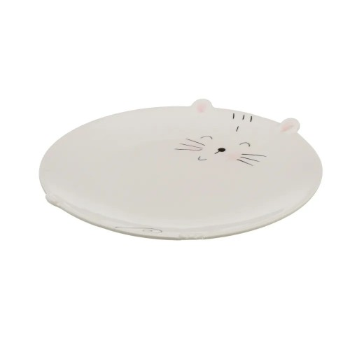 PLATO KITTY PORCELANA BIALY 20,50 X 20,50 X 2,30 CM