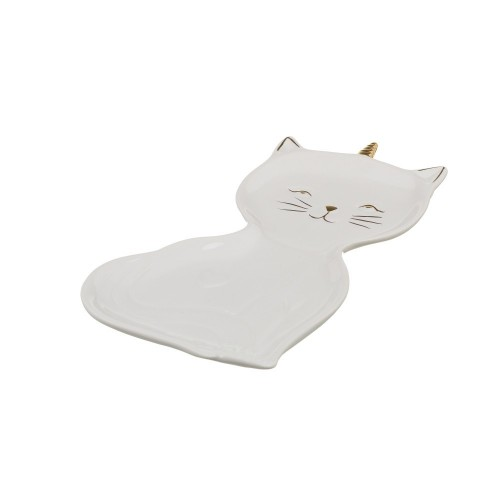 BANDEJA KITTY PORCELANA BLANCO 13,50 X 22 X 1,70 CM