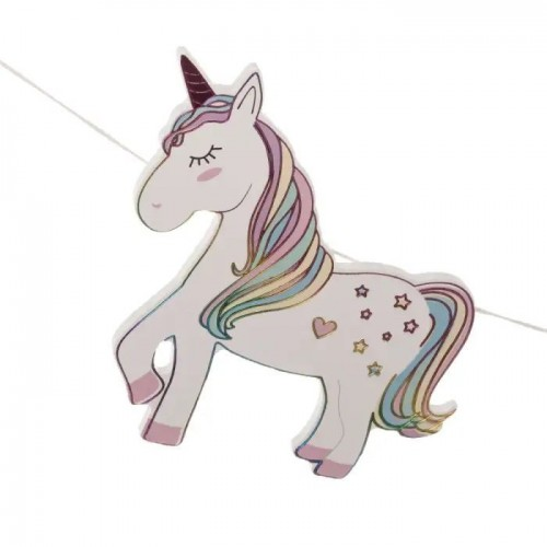 COLGANTE DECORATIVO MADERA UNICORN