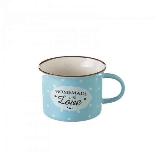 "TAZA ""MUG\"" AZUL NEW BONE CHINA 7,40 X 7,70 X 5,50 CM"