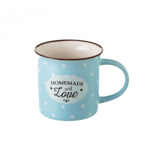 "TAZA ""MUG\"" AZUL NEW BONE CHINA 7,80 X 7,70 X 7,40 CM"