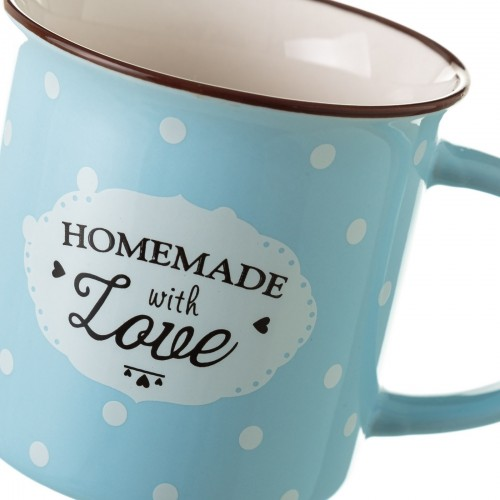 TAZA MUG NEW BONE CHINA AZUL 7,80 X 7,70 X 7,40 CM CAPACIDAD: 230 CC.