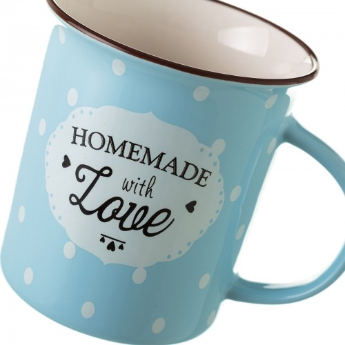 TAZA MUG AZUL NEW BONE CHINA 8,40 X 7,70 X 9 CM CAPACIDAD: 320 CC.