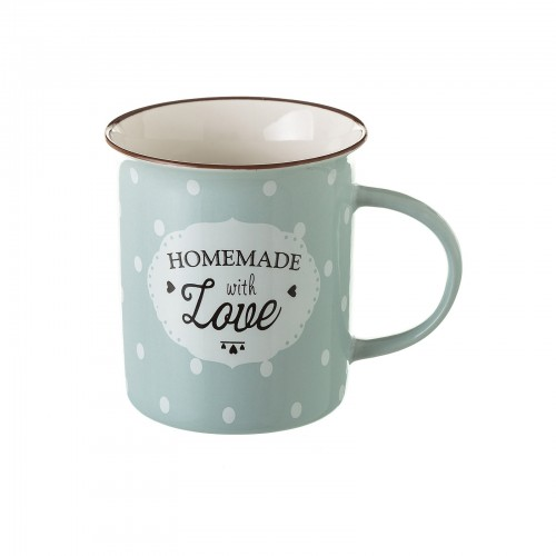 TAZA MUG GRIS NEW BONE CHINA 8,40 X 7,70 X 9 CM CAPACIDAD: 320 CC.