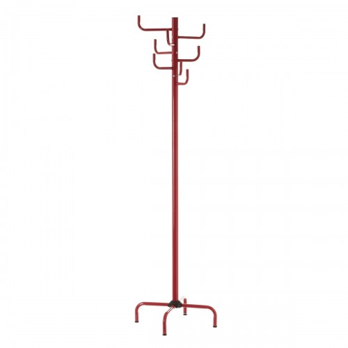 PERCHERO 8 BRAZOS METAL ROJO 40 X 40 X 183 CM (1006)