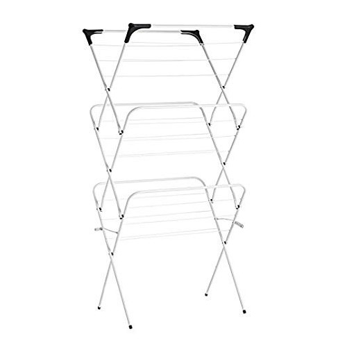 TENDEDERO PLEGABLE BLANCO METAL 63 X 51 X 135 CM