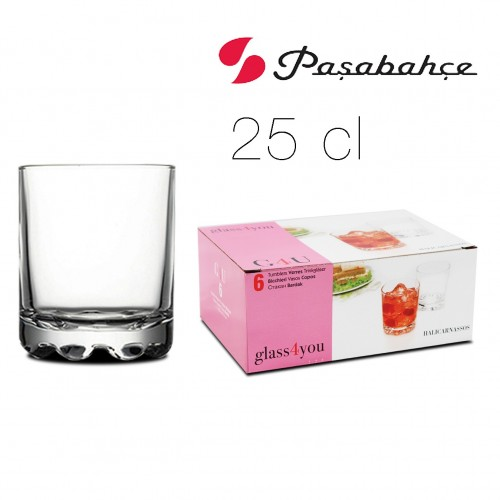 VASO WHISKY HALICAR 25 CL X6