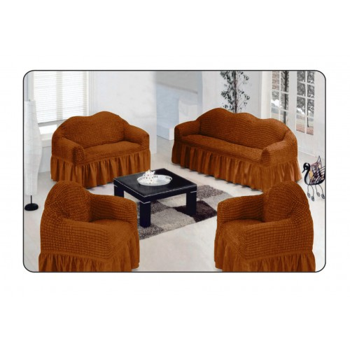 FUNDA DE SOFA 1 PLAZA 70CM-120CM MODELO DONNA MARRON