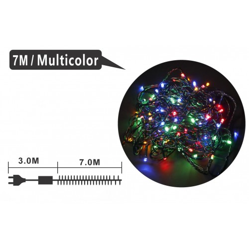 GUIRNALDA 100 LUCES LED MULTIFUNCIONES INTERIOR/EXTERIOR IP44 MULTICOLOR