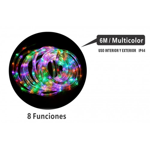 MANGUERA 6 MTS LED MULTIFUNCIONES INTERIOR/EXTERIOR IP44 MULTICOLOR
