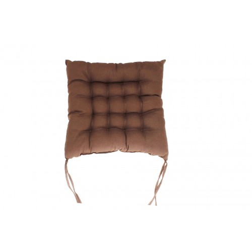 COJIN SILLA LIVING COLOURS CHOCOLATE 40X40X7 CM