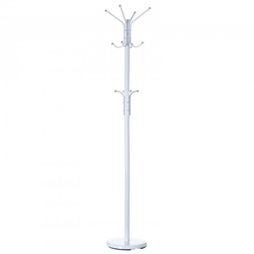 PERCHERO 12 BRAZOS BLANCO METAL 30 X 30 X 178 CM