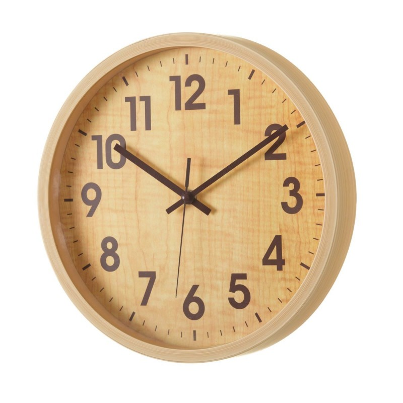 RELOJ PARED WOOD PLÁSTICO 30 X 30 X 4,30 CM