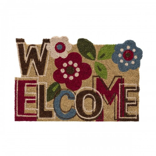 FELPUDO FIBRA COCO 60 X 40 X 1,50 CM - FLOWER WELCOME