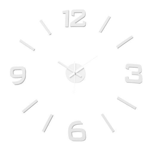 RELOJ WALL STICKER BLANCO 60 X 60 CM